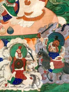 Framed Tibetan Thangka Vaisravana Jambhala - 1418422