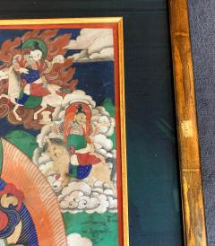 Framed Tibetan Thangka Vaisravana Jambhala - 1418423