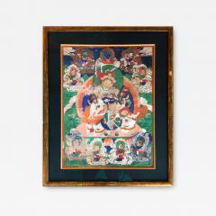 Framed Tibetan Thangka Vaisravana Jambhala - 1418448
