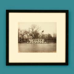 Framed albumen print of rowers - 828451