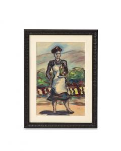 Framed watercolor by Norton Foster - 2101612