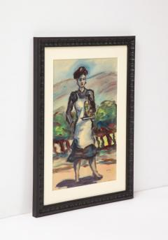 Framed watercolor by Norton Foster - 2101613