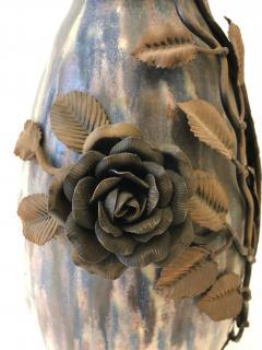 Fran ois Carion Monumental Roger Guerin Vase with Fran ois Carion Ironwork - 1106975