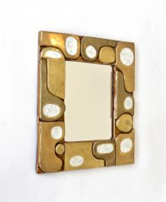 Fran ois Lembo Francois Lembo French Ceramic and Fused Glass Mirror - 1316659