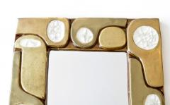 Fran ois Lembo Francois Lembo French Ceramic and Fused Glass Mirror - 1316663