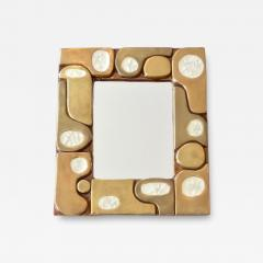 Fran ois Lembo Francois Lembo French Ceramic and Fused Glass Mirror - 1318770