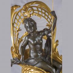 Fran ois Linke A Fine Quality Gilt Bronze Mantel Clock Depicting Amphitrites Chariot Drawn - 1435165