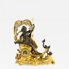 Fran ois Linke A Fine Quality Gilt Bronze Mantel Clock Depicting Amphitrites Chariot Drawn - 1438190