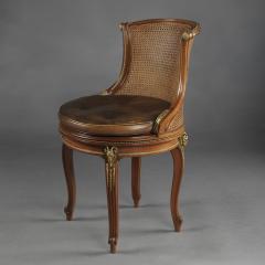 Fran ois Linke A Gilt Bronze Mounted Mahogany Desk Chair - 772593