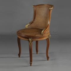 Fran ois Linke A Gilt Bronze Mounted Mahogany Desk Chair - 772595