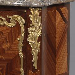 Fran ois Linke A Louis XVI Style Marquetry Side Cabinet - 1043706
