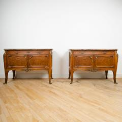 Fran ois Linke A pair of French Louis XV style signed F Linke marble top commodes - 2033542