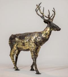 Fran ois Melin Deer sculpture in oxydised brass by Fran ois Melin 1970 - 1517006