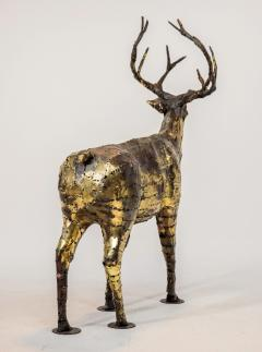 Fran ois Melin Deer sculpture in oxydised brass by Fran ois Melin 1970 - 1517007