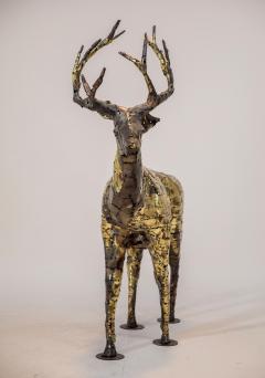 Fran ois Melin Deer sculpture in oxydised brass by Fran ois Melin 1970 - 1517008