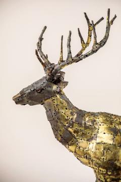 Fran ois Melin Deer sculpture in oxydised brass by Fran ois Melin 1970 - 1517010