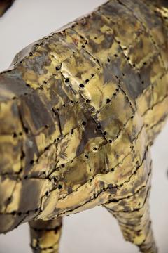 Fran ois Melin Deer sculpture in oxydised brass by Fran ois Melin 1970 - 1517012