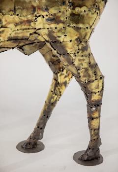 Fran ois Melin Deer sculpture in oxydised brass by Fran ois Melin 1970 - 1517013