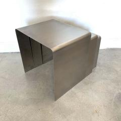 Fran ois Monnet Fran ois Monnet Waterfall Bent Steel Nesting Ocassional Side End Tables by Kappa - 1624272
