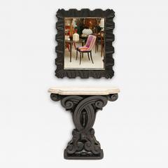 Frances Elkins Cast Plaster Console and Mirror by Frances Elkins - 182418