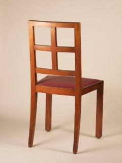 Francis Jourdain Francis Jourdain Set of Six Dining Chairs in Rosewood and Mahogany - 1600624