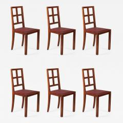 Francis Jourdain Francis Jourdain Set of Six Dining Chairs in Rosewood and Mahogany - 1601803