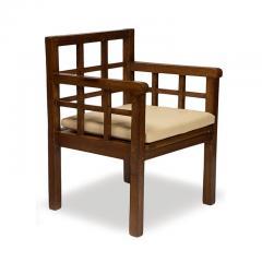 Francis Jourdain Rare Pair Gridded Armchairs in Palm Wood by Francis Jourdain - 763284