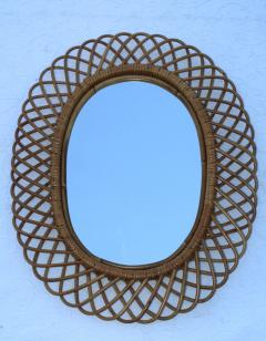 Franco Albini Franco Albini Mid Century Modern Oval Mirror - 1310942