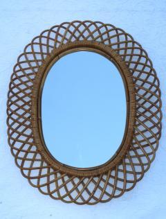 Franco Albini Franco Albini Mid Century Modern Oval Mirror - 1310943