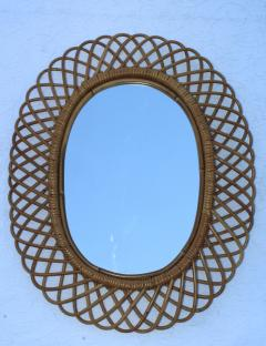Franco Albini Franco Albini Mid Century Modern Oval Mirror - 1310944