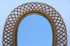 Franco Albini Franco Albini Mid Century Modern Oval Mirror - 1310945