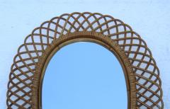 Franco Albini Franco Albini Mid Century Modern Oval Mirror - 1310946