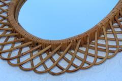 Franco Albini Franco Albini Mid Century Modern Oval Mirror - 1310947