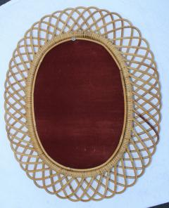 Franco Albini Franco Albini Mid Century Modern Oval Mirror - 1310948