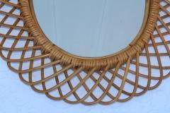 Franco Albini Franco Albini Mid Century Modern Oval Mirror - 1310950