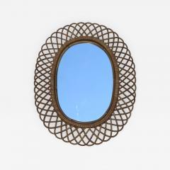 Franco Albini Franco Albini Mid Century Modern Oval Mirror - 1315097