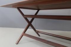 Franco Albini Franco Albini MidCentury Walnut trestle table Foldable from 1950s - 1116240