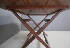 Franco Albini Franco Albini MidCentury Walnut trestle table Foldable from 1950s - 1116242