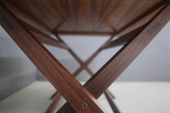 Franco Albini Franco Albini MidCentury Walnut trestle table Foldable from 1950s - 1116243