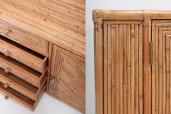 Franco Albini Franco Albini Style Bamboo Credenza 1970s - 1051977