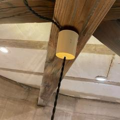 Franco Albini French Pendant Bamboo Rice Paper Bubble Lamp after Franco Albini France 1960s - 2086232