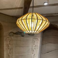 Franco Albini French Pendant Bamboo Rice Paper Bubble Lamp after Franco Albini France 1960s - 2086235