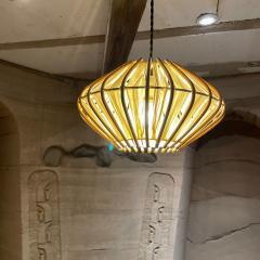 Franco Albini French Pendant Bamboo Rice Paper Bubble Lamp after Franco Albini France 1960s - 2086236
