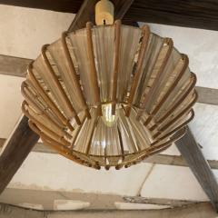 Franco Albini French Pendant Bamboo Rice Paper Bubble Lamp after Franco Albini France 1960s - 2086241