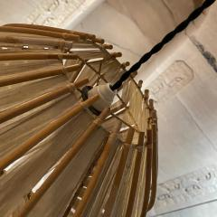 Franco Albini French Pendant Bamboo Rice Paper Bubble Lamp after Franco Albini France 1960s - 2086242
