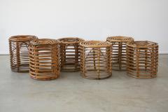 Franco Albini ITALIAN BAMBOO STOOLS - 1954542