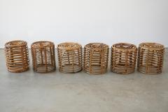 Franco Albini ITALIAN BAMBOO STOOLS - 1954545