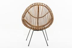 Franco Albini Pair of 1960s rattan chairs attributed to Franco Albini - 1504591