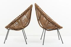 Franco Albini Pair of 1960s rattan chairs attributed to Franco Albini - 1504597