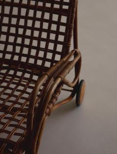 Franco Albini Rare Pair of Wicker Chaise Longues - 1572986